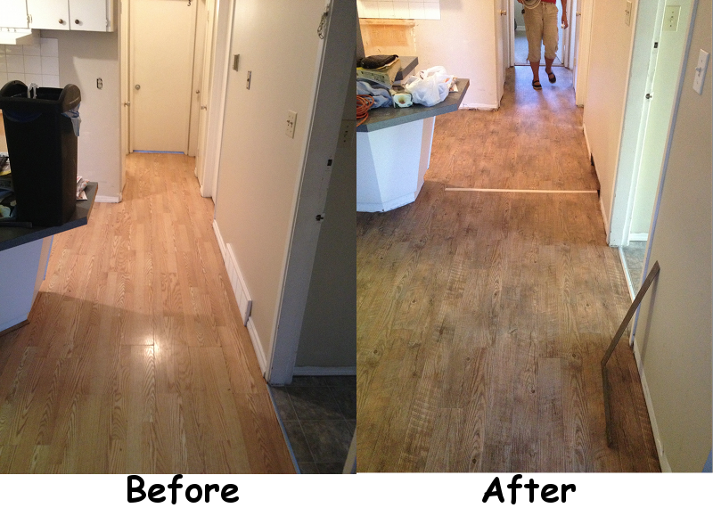 Replacing flooring in your rental property for Before and after flooring